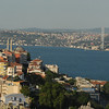 Bosphorus Strait and Bosphorus bridge, Istanbul, Turkey.
