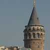 Galata Tower, close crop, Istanbul, Turkey.