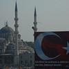 Detail across to Eminonu district, from Galata Bridge across the Golden Horn, Istanbul.