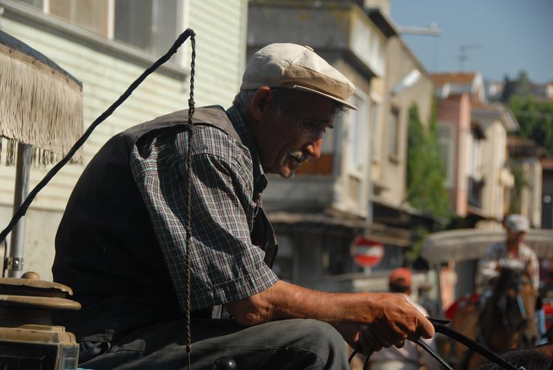 Carriage driver, Princes Islands, Turkey.
