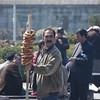 Pretzel salesman, historic Istanbul, Turkey.