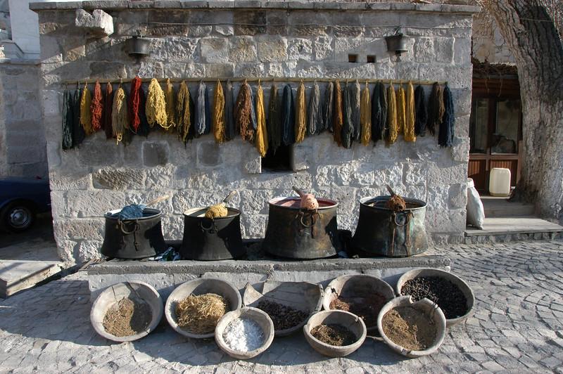 Carpet dye & materials, Cappadocia.