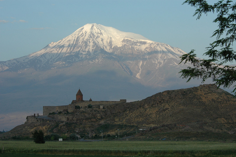 Khor Virap Monastery, Armenia and Mt. Ararat, Turkey.