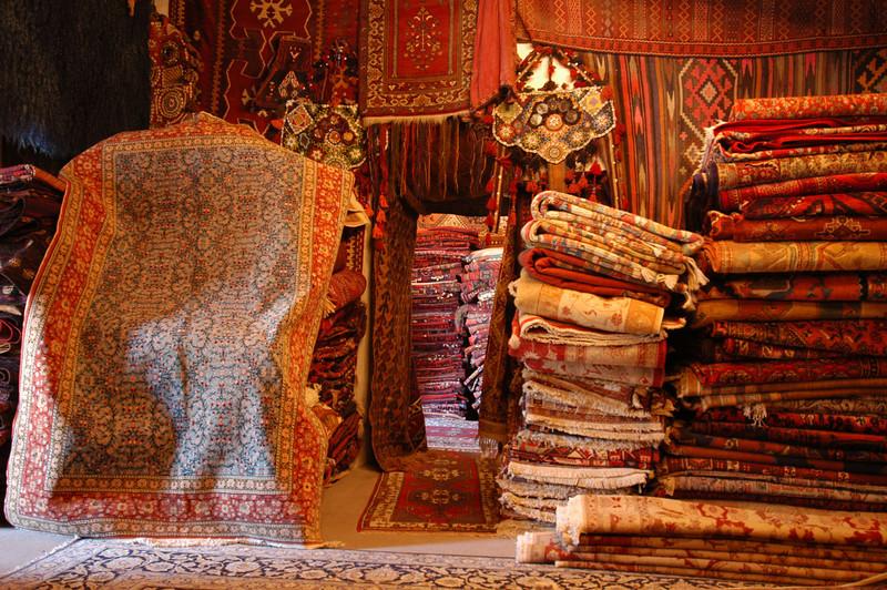 Carpets at Galerie Ikman, Goreme, Cappadocia, Turkey.