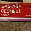 Street sign, Beyoglu district, Istanbul, Turkey.