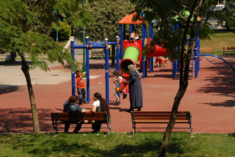 Istanbul, Turkey playground.