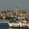 Traffic on the Golden Horn, Istanbul, Turkey.