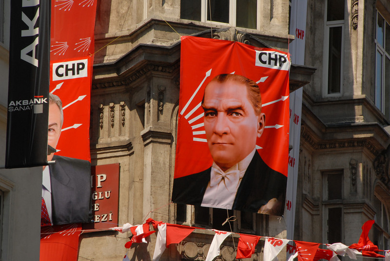 Republican People's Party (CHP) office, Istanbul, Turkey.