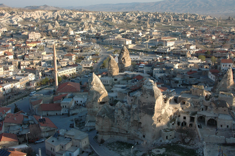 Aerial view of Goreme, Turkey.