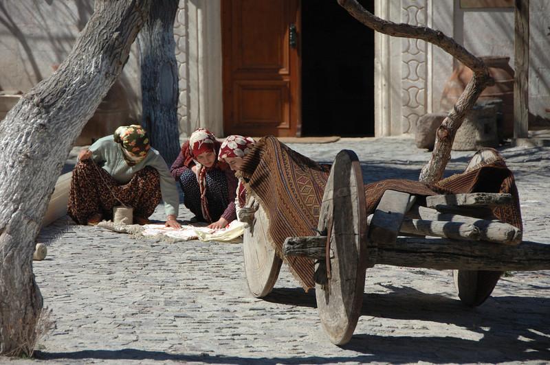 Carpet weaving, Cappadocia, Turkey.