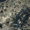 Aerial view of cave dwellings, Cappadocia, Turkey.