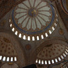 Detail of ceiling of the Blue Mosque, Istanbul, Turkey.
