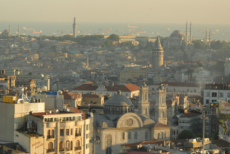 View across Istanbul, Turkey, to the Sea of Marmara.