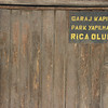 Garage door, Uskudar, Istanbul, Turkey.