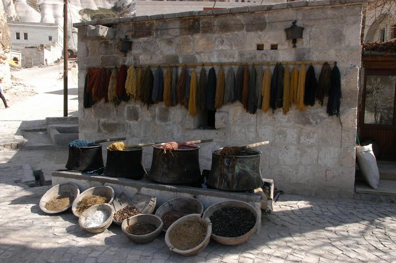 Carpet dye & materials, Cappadocia, Turkey.