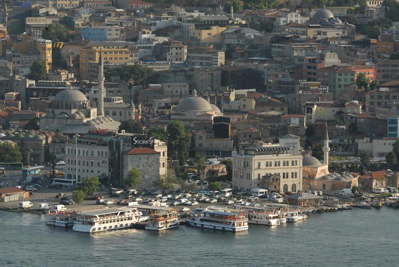 Where the Golden Horn meets the Bosphorus Strait, Istanbul, Turkey.