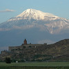 Khor Virap Monastery, Armenia, and Mt. Ararat, Turkey.