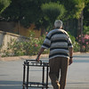 A man and his furniture. Buyukada, Turkey.