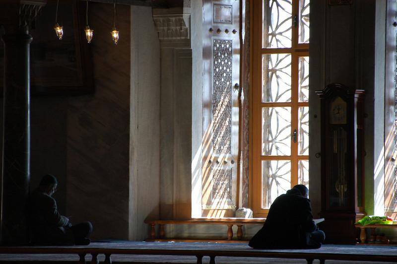 Interior of Blue Mosque, Istanbul, Turkey.