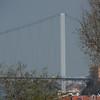 The Bosphorus bridge connecting Europe and Asia across the Bosphorus Strait, Istanbul, Turkey.