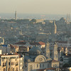 Across Istanbul, Turkey from above Taksim Square to the Sea of Marmara.