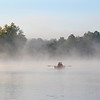 20090918-twin lakes - fall mist rowboat 2 people