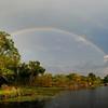 Rainbow over West Twin Lake