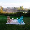 Adirondack chairs on West Twin Lake.