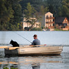 rowboat dog man-13