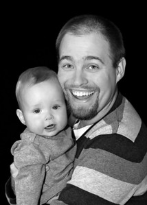 Luke and Daddy closer bw (1 of 1)