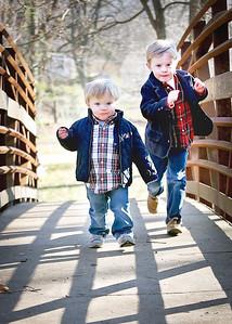 Brothers Run on Bridge crop (1 of 1)