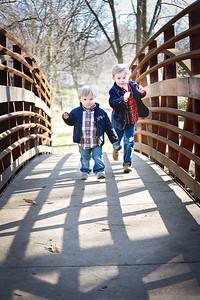 Brothers Run on Bridge (1 of 1)