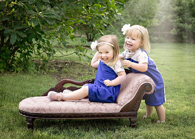 Girls with Chaise Laughing (1 of 1)