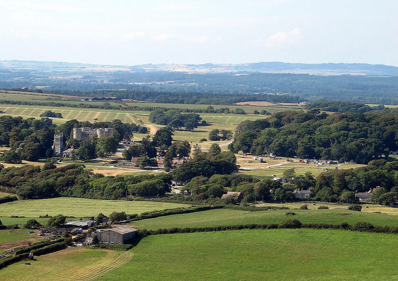Lulworth Castle from Flower's Barrow.