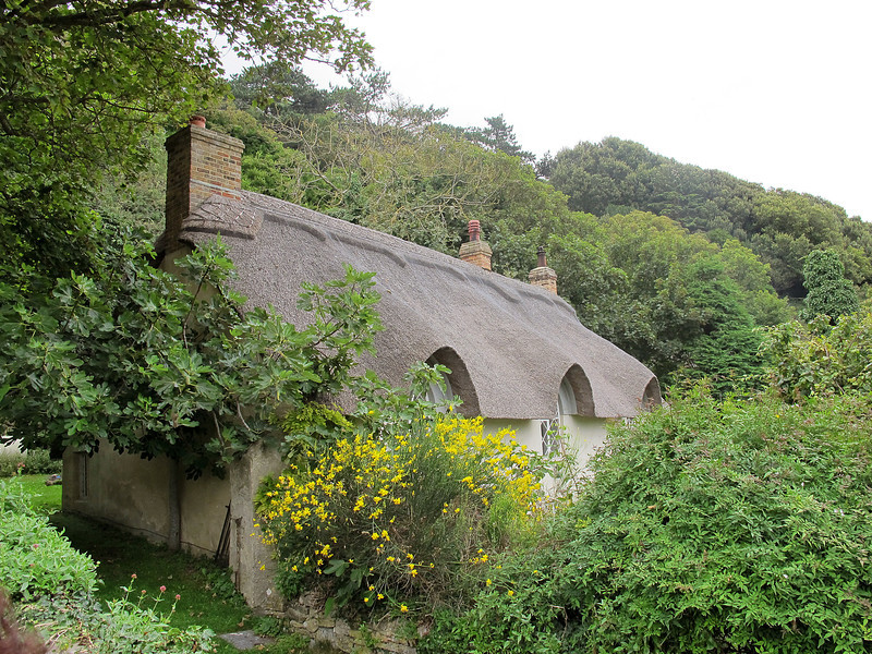 An attractive thatched cottage at Lulworth Cove.