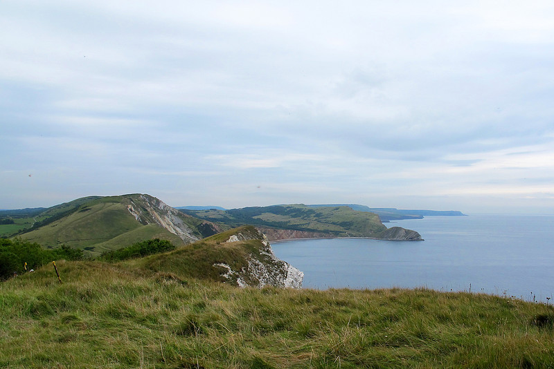 Looking eastwards from Bindon Hill towards Worbarrow Bay with St Aldhelm's Head in the far distance.