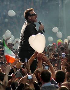 Bono and the irish flag,I it's a beautiful day
