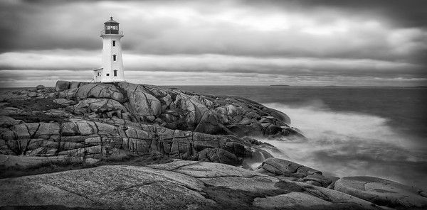 Just after dawn in 50+ mph winds - Peggy's Cove NS 2015
