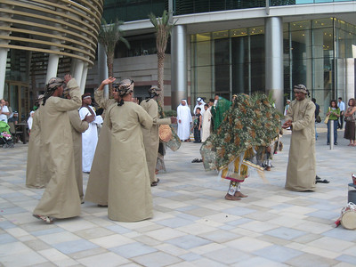 Emirati dance group at Dubai Festival City on National Day.