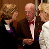 Cindy Chew<br /> 4/18/12<br /> UCSF Chancellor Susan Desmond-Hellmann speaks with U.S. Secretary of State George Shultz and Charlotte Shultz at the 24th Annual Distinguished Citizen Award Dinner hosted by The Commonwealth Club on Wednesday night.
