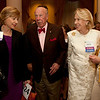 Cindy Chew<br /> 4/18/12<br /> UCSF Chancellor Susan Desmond-Hellmann, U.S. Secretary of State George Shultz, Charlotte Shultz and Presidio Trust Chairman Nancy Hellman Bechtle, from left, gather at the 24th Annual Distinguished Citizen Award Dinner hosted by The Commonwealth Club on Wednesday night.
