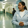 Cindy Chew<br /> 7/13/04<br /> Amparo Martinez, 18, will be covered under the new Healthy Kids healthcare plan until she reaches the age of 25.