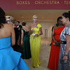 Cindy Chew<br /> 9/7/10<br /> Patrons committe member Angelique Griepp, center, wearing Karen Caldwell, gathers with others at the Symphony Gala event at Davies Symphony Hall on Tuesday.