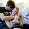 Cindy Chew<br /> 3/11/11<br /> Rachel Hale, 17, a patient at UCSF Hospital, hangs out with her boyfriend Cameron Cerullo, 16, at UCSF Benioff Children's Hosptial.