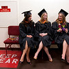 Cindy Chew <br /> 6/5/12<br /> Nursing students Samantha Valcourt, Colleen Pollard and April Stuber, from left, rest their feet before the UCSF School of Nursing Commencement held at Davies Symphony Hall on Tuesday.