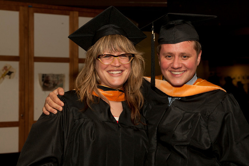 Cindy Chew <br /> 6/5/12<br /> Nursing students Rebeca Salman and Corey Bohman pose for a photo together before the UCSF School of Nursing Commencement on Tuesday.