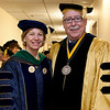 Cindy Chew <br /> 6/5/12<br /> UCSF School of Nursing Dean David Vlahov poses for a photo with Chancellor Susan Desmond-Hellmann before the UCSF School of Nursing Commencement held at Davies Symphony Hall on Tuesday.