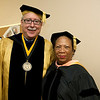 Cindy Chew <br /> 6/5/12<br /> UCSF School of Nursing Dean David Vlahov poses for a photo with Cedars-Sinai Medical Center Vice President for Nursing and Chief Nursing Officer Dr. Linda Burnes Bolton before the UCSF School of Nursing Commencement held at Davies Symphony Hall on Tuesday.