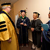 Cindy Chew <br /> 6/5/12<br /> UCSF School of Nursing Dean David Vlahov, Chancellor Susan Desmond-Hellmann, Cedars-Sinai Medical Center Vice President for Nursing and Chief Nursing Officer Dr. Linda Burnes Bolton and nursing faculty Judy Martin-Holland gather before the UCSF School of Nursing Commencement held at Davies Symphony Hall on Tuesday.