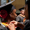 Cindy Chew <br /> 6/5/12<br /> Nursing student Ebony Anderson, right, helps Lanitra Williams with her gown before the UCSF School of Nursing Commencement held at Davies Symphony Hall on Tuesday.
